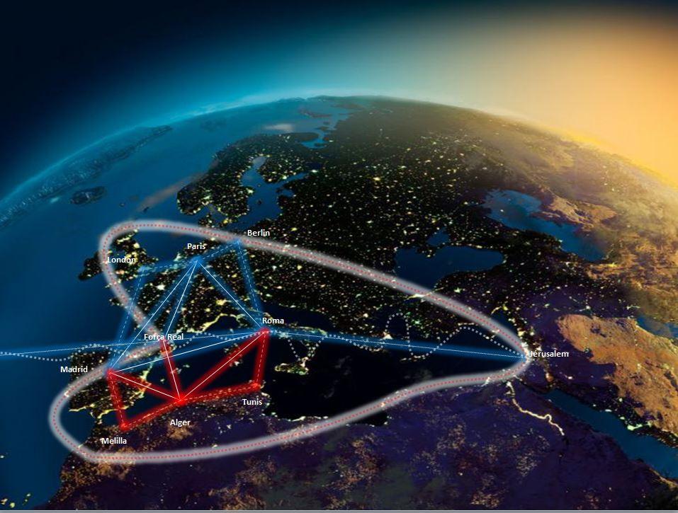 El triángulo Madrid-Roma-Paris con sus extensiones