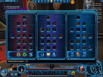 SWTOR - Jedi Sentinel Skill Tree 1