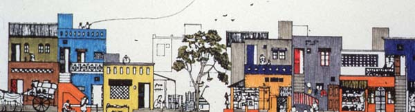 Balkrishna Doshi, Aranya Low-cost Housing, Indore, 1983-86 ...