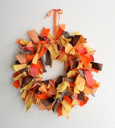 fabric wreath - Diy Fall Decor