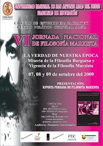 VI JORNADA NACIONAL DE FILOSOFÍA MARXISTA