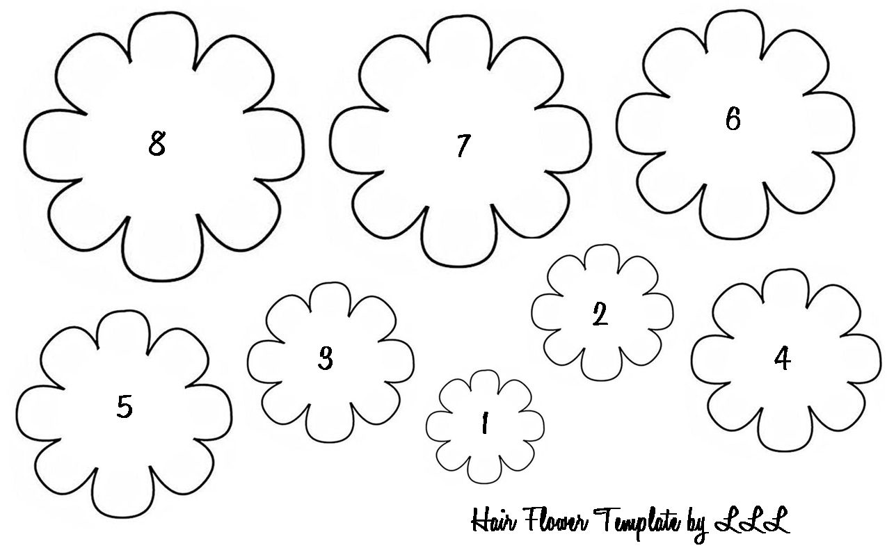 Delicate image in flower templates printable