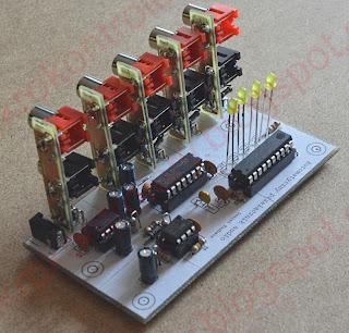 Automatyczny przełącznik audio - widok na układ