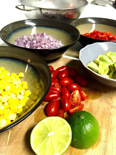 veggies, chopped vegetables, healthy dinner ingredients, mexican, taco night