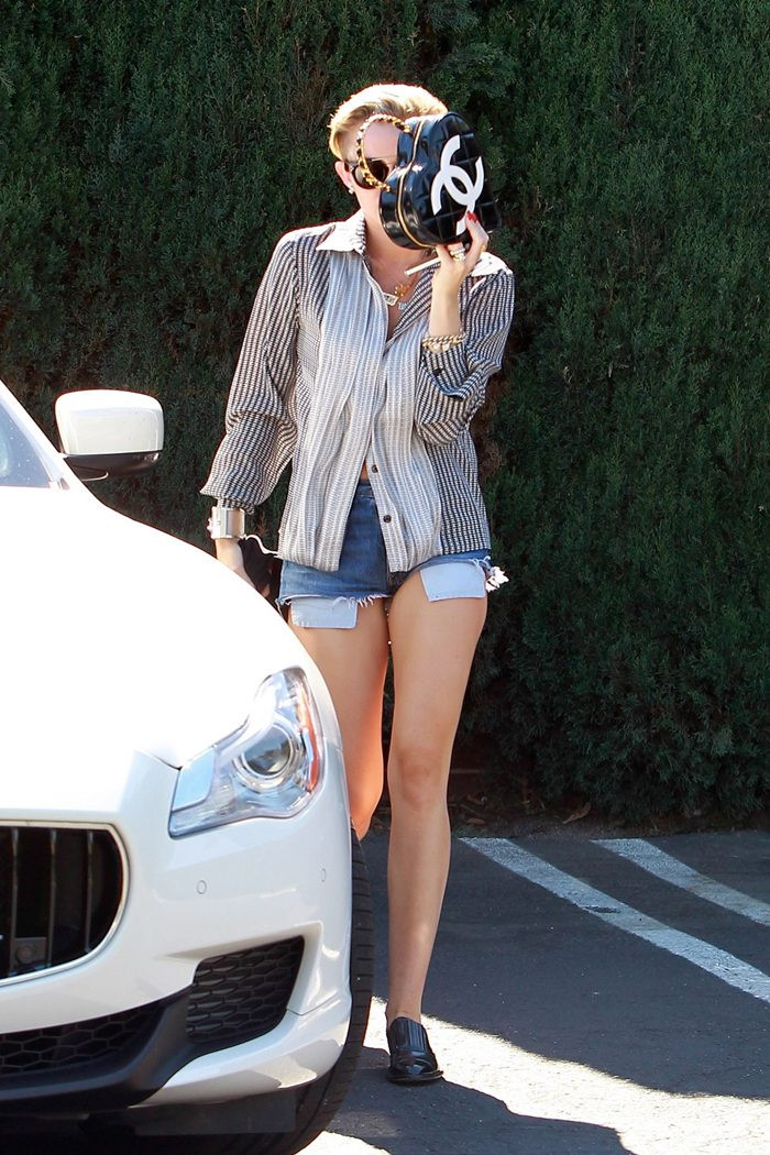 Miley Cyrus at a Studio in LA