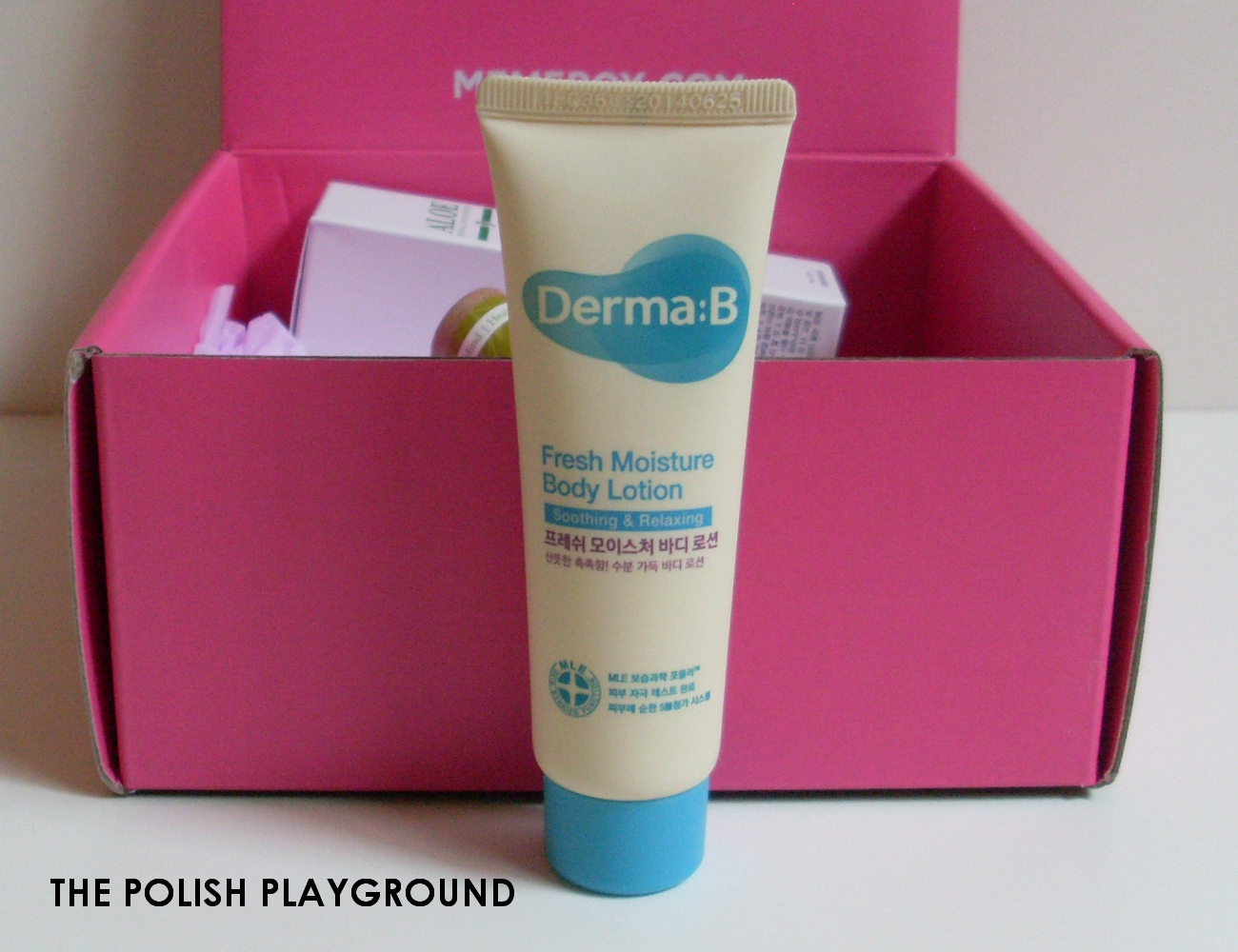 Memebox Special #64 Green Food Cosmetics Unboxing - DermaB Fresh Moisture Body Lotion