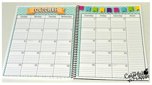 Calendar Notebook 2015 : Updated the calendar notebook colorful apple