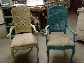The Chairs Were Really Dingy And Dirty One Of Them Was Painted Bright Blue I Sold Two Arm To A Loot Customer Who Wanted In