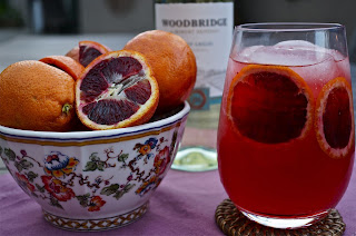 blood orange pinot grigio fizz wine cocktail