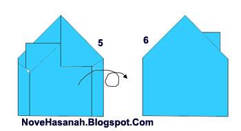 cara membuat origami bentuk rumah untuk anak TK atau SD kelas 1