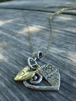 Metal Hearts Unite Charm Necklace by hotGlued
