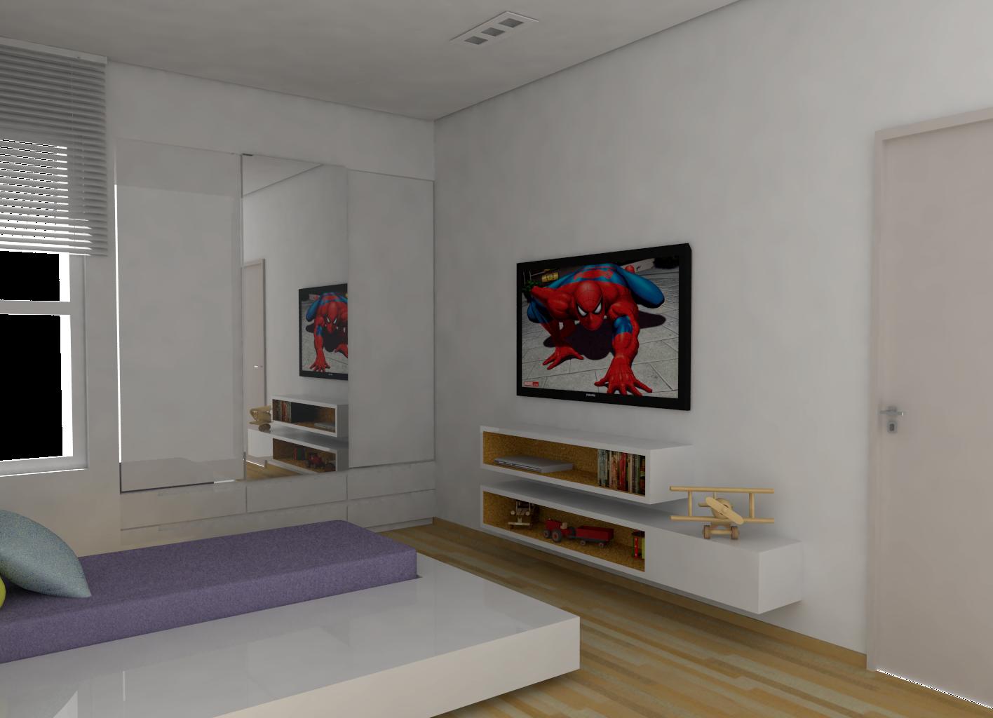 Isabela Stiegert   Arquitetura e Interiores: Quarto para meninos #653828 1416x1024
