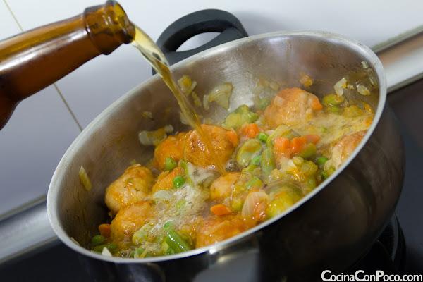 Albóndigas con verdura - receta paso a paso