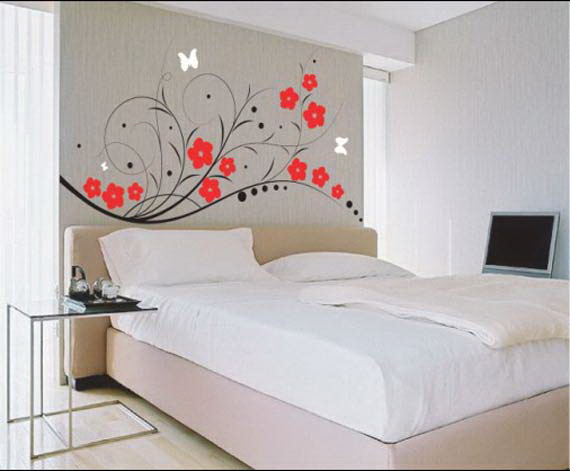 New home designs latest home interior wall paint designs for Bed room interior wall design
