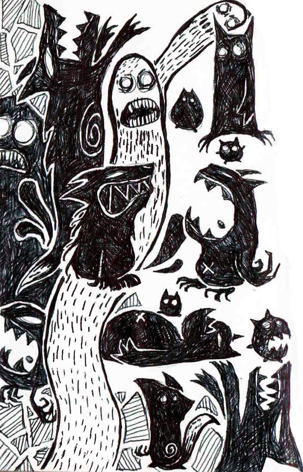 plein de monstres