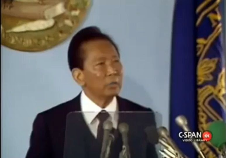 Ferdinand Marcos Speech At National Press Club Washington