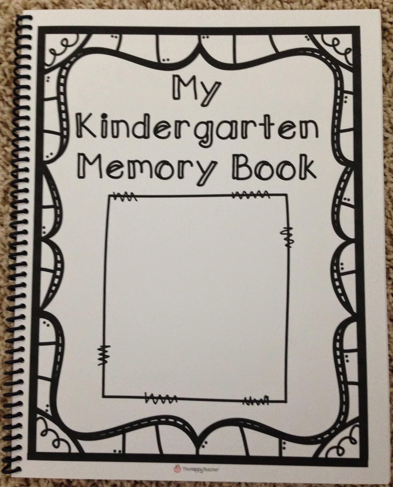 kindergarten memory book thehappyteacher