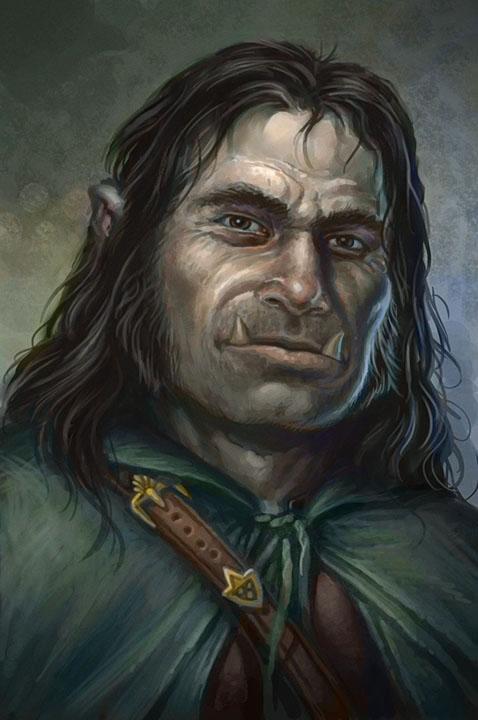 Half Orc Portrait THE ART OF JIM ...