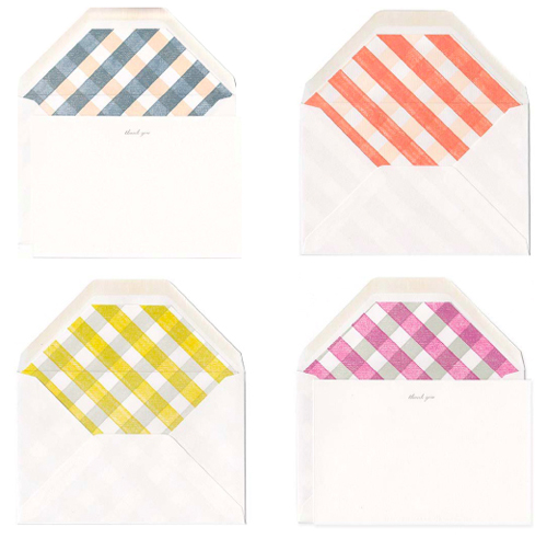 Gingham Envelopes from Stripe & Field