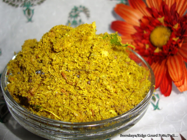 images for Beerakaya Pottu Podi Recipe / Beerakaya Tokku Podi Recipe / Ridge Gourd Skin Podi Recipe