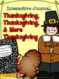 Thanksgiving: Interactive Journal & Task Cards