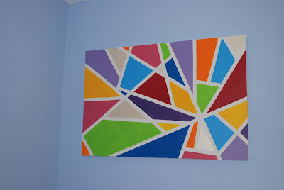 masking tape painting pinned by sophia