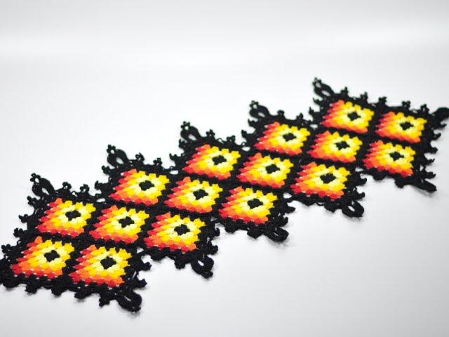Caminho de mesa squares