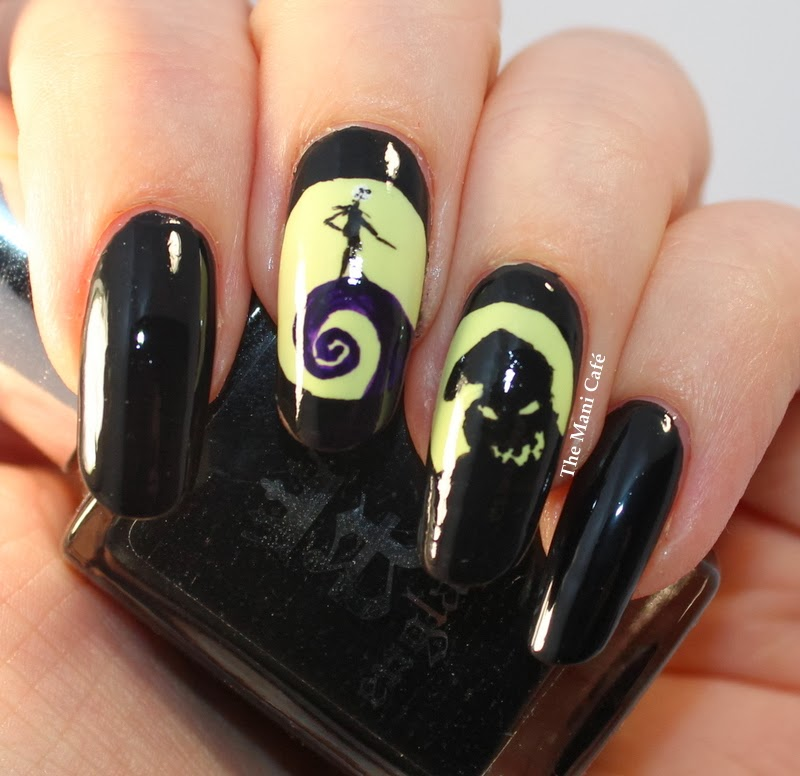 The Mani Caf Halloween Nail Art The Nightmare Before Christmas
