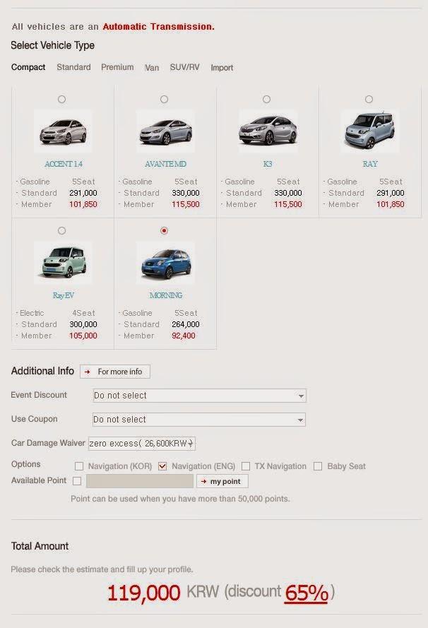 Jeju Island Under  Rental Car