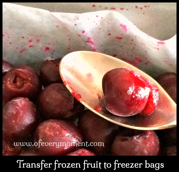 freezing cherries,