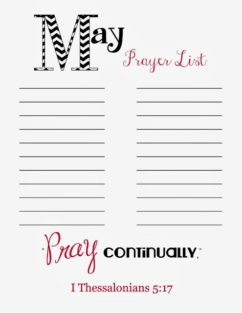 doodles stitches prayer list printable may. Black Bedroom Furniture Sets. Home Design Ideas