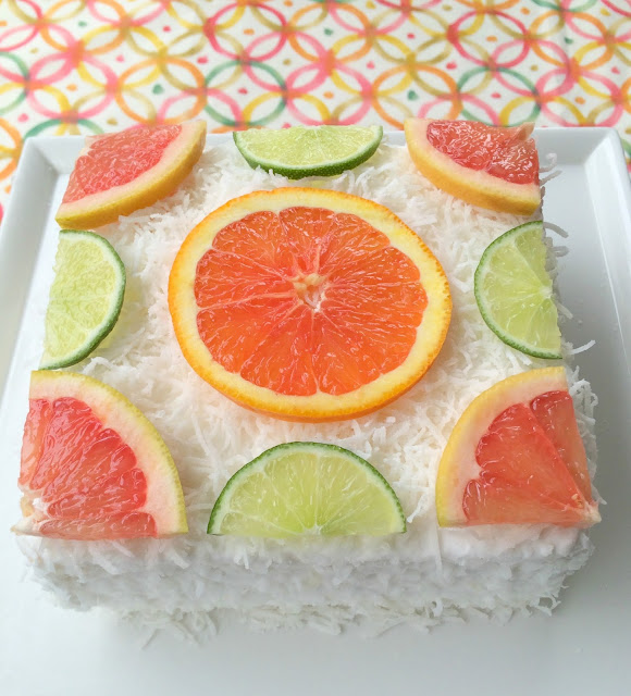 Simple and Easy Citrus Coconut Cake | www.jacolynmurphy.com