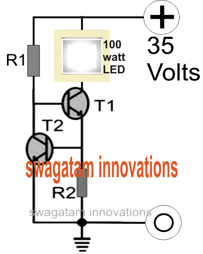 LED Floodlight Constant Current Driver Circuit Electronic