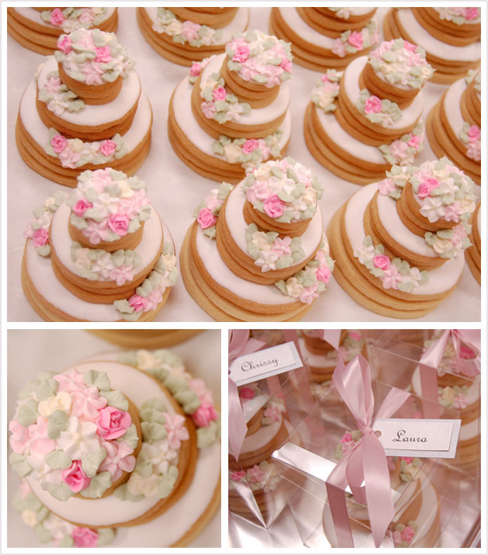 Stacked Wedding Cake Cookies