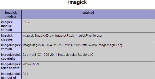 install imagemagick php