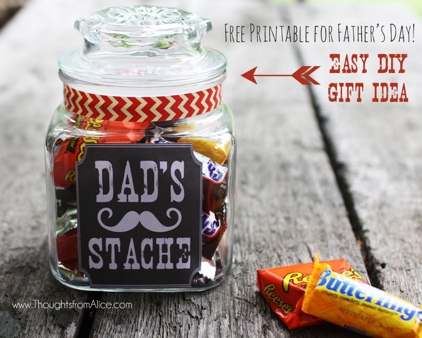Father's Day Ideas. Father's Day Gift Jar: Dad's Stache