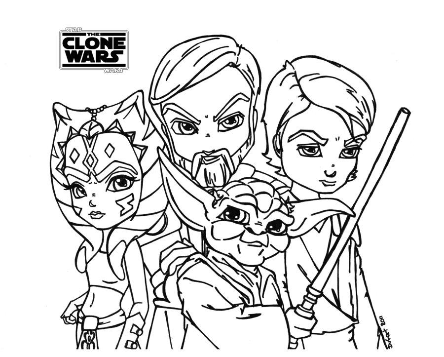 Clone Wars gratis-Malvorlagen