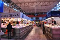 Interior Mercat Municipal d'Abastaments. Mercat del Lleó. Girona. Altres llocs d'interès.