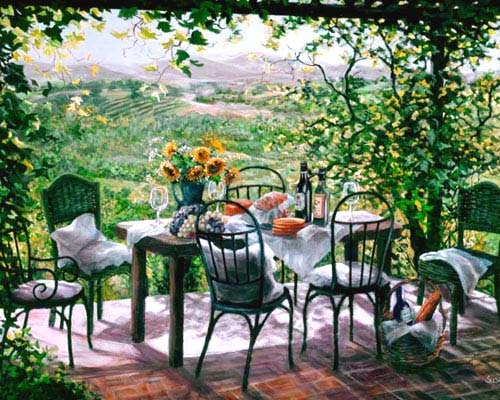 Susan Rios painting - Thanh bình và lãng mạn với tranh đẹp