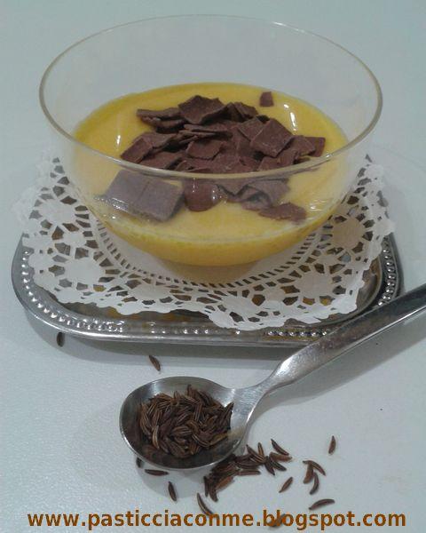 crema aromatizzata con semi di kummel