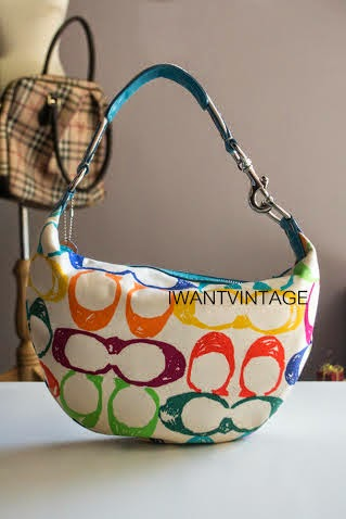designer coach diaper bags x4zp  Coach 5657 Colorful Hampton Scribble Hobo Bag