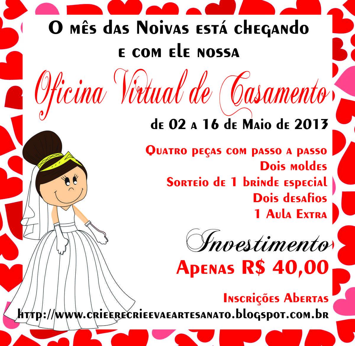 Crie e recrie eva e artesanato oficina virtual de casamento for Oficina virtual de sepe