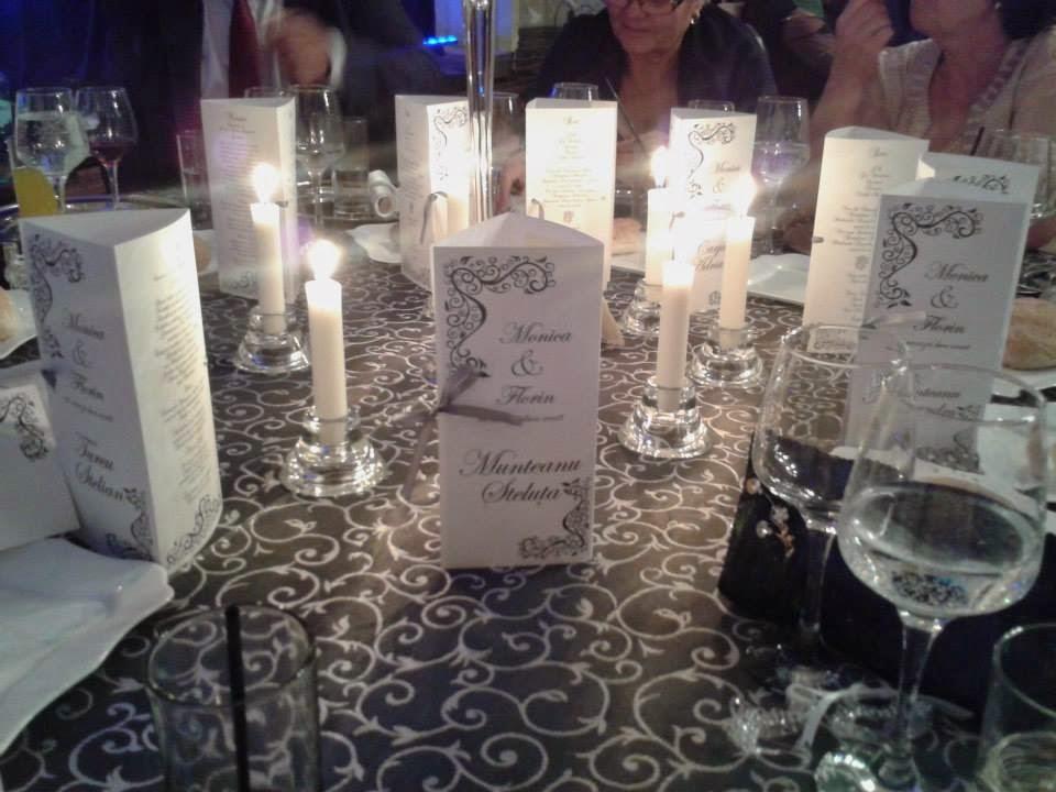 Meniuri pentru mesele invitatilor la evenimente
