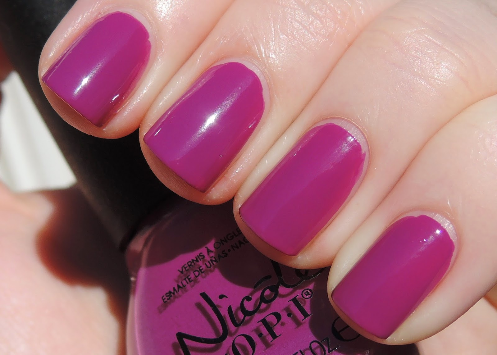 NOPI In Grape Demand swatch nicole by opi