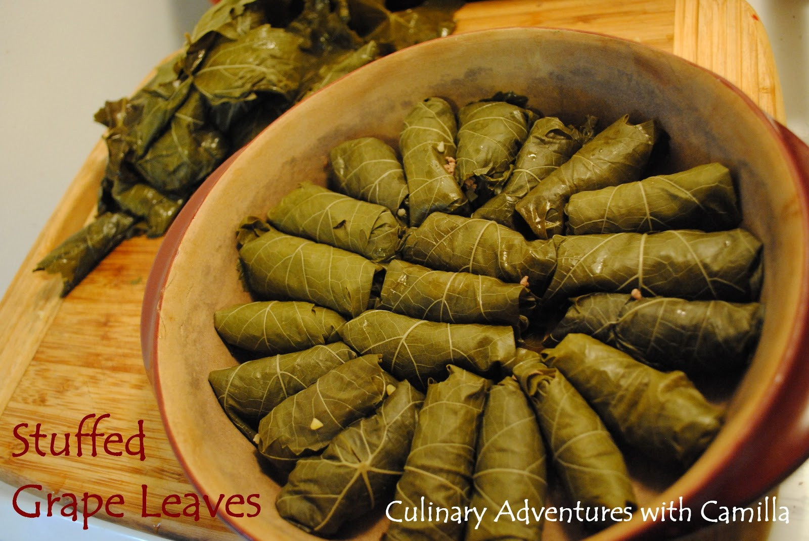 ... with Camilla: Fennel Pollen + Nutmeg-Scented Stuffed Grape Leaves