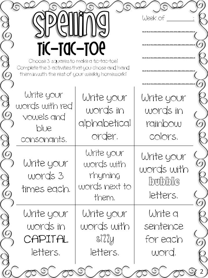 Sight Words Spelling TicTacToe FREEBIE All Students Can Shine – Tic Tac Toe Template