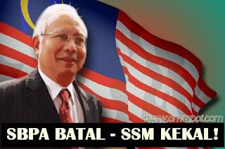 SBPA batal, SSM kekal