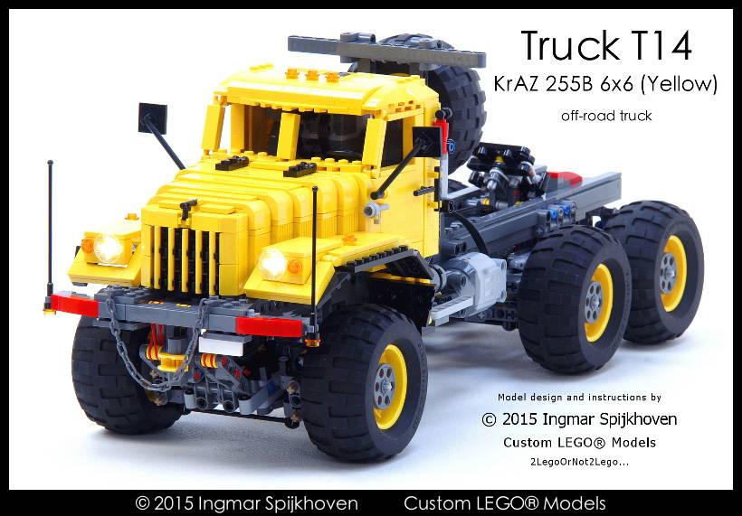 Ingmar Spijkhoven Truck T14 Kraz 255b 6x6 Yellow With Instructions