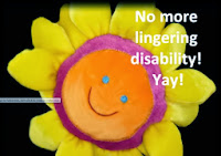 No more lingering disability - yay! Stuffed sunflower toy