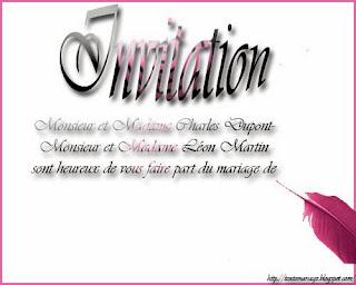 Image faire part mariage